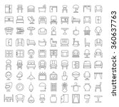 furniture icons  furniture... | Shutterstock .eps vector #360637763