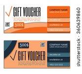 gift voucher. vector ... | Shutterstock .eps vector #360639860