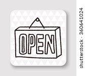 doodle doodle open | Shutterstock .eps vector #360641024