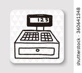 doodle checkout machine   Shutterstock .eps vector #360641348