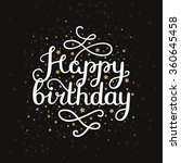 happy birthday card with hand... | Shutterstock .eps vector #360645458