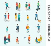 isometric 3d vector people. set ... | Shutterstock .eps vector #360647966