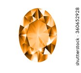 oval diamond with orange... | Shutterstock .eps vector #360652928