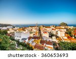 top view on garachico town on... | Shutterstock . vector #360653693