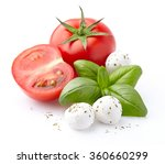 mozzarella  tomatoes  basil... | Shutterstock . vector #360660299