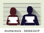 police criminal record with man ...   Shutterstock .eps vector #360661619