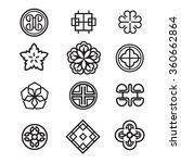 korean traditional symbol... | Shutterstock .eps vector #360662864