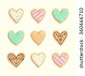 st valentines cookies vector... | Shutterstock .eps vector #360666710