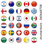 most popular flag collection | Shutterstock .eps vector #360668708