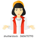 confused woman shrugging her... | Shutterstock .eps vector #360670793