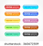 set of colored buttons with... | Shutterstock .eps vector #360672509
