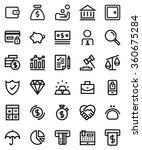 finance line icon set. pixel... | Shutterstock .eps vector #360675284