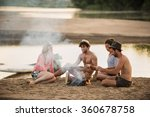 group of friends having fun at... | Shutterstock . vector #360678758