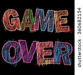 game over painted children's...