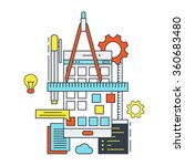 thin line flat design concept... | Shutterstock .eps vector #360683480