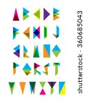 set of bright vector triangles... | Shutterstock .eps vector #360685043