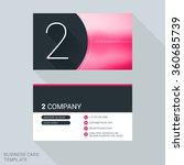 creative business card template.... | Shutterstock .eps vector #360685739