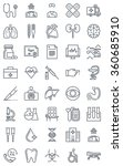 hospital  health icon set... | Shutterstock .eps vector #360685910