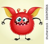 happy cartoon monster. vector... | Shutterstock .eps vector #360690866