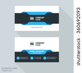 modern creative business card... | Shutterstock .eps vector #360692093