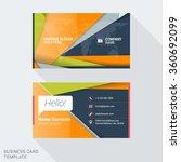 modern creative business card... | Shutterstock .eps vector #360692099