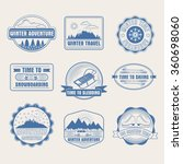 winter adventure badges set.... | Shutterstock .eps vector #360698060