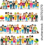 all age group of european... | Shutterstock .eps vector #360701570