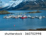 mooring of boats on the lake in ... | Shutterstock . vector #360702998