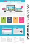 colorful business one page...   Shutterstock .eps vector #360704720