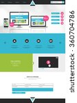 colorful business one page... | Shutterstock .eps vector #360704786