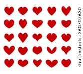 vector red hearts set. i love... | Shutterstock .eps vector #360707630