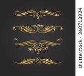 glitter gold flourishes vector... | Shutterstock .eps vector #360713924