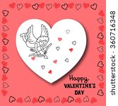 happy valentines day card... | Shutterstock .eps vector #360716348