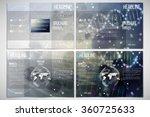 vector set of tri fold brochure ... | Shutterstock .eps vector #360725633