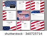 set of 9 vector templates for... | Shutterstock .eps vector #360725714