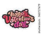 happy valentine's day   perfect ... | Shutterstock .eps vector #360727679