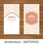 vintage card design for... | Shutterstock .eps vector #360729323