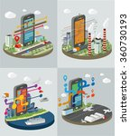 technology symbols with smart...   Shutterstock .eps vector #360730193