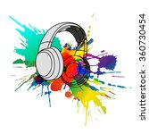 headphones with colorful... | Shutterstock .eps vector #360730454