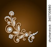 gold jewelry background with... | Shutterstock .eps vector #360730880