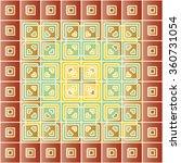 abstract damask pattern design... | Shutterstock .eps vector #360731054