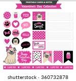 valentines day printable set... | Shutterstock .eps vector #360732878