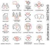 vector set of 16 icons related... | Shutterstock .eps vector #360734243