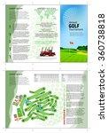 tri fold golf brochure design....   Shutterstock .eps vector #360738818
