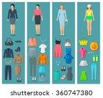 vertical banners set of woman...   Shutterstock .eps vector #360747380