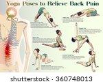 a set of yoga postures female... | Shutterstock .eps vector #360748013