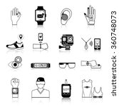 gadgets and devices icons set... | Shutterstock .eps vector #360748073
