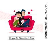 happy valentines's day | Shutterstock .eps vector #360750944