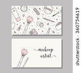 makeup artist business card.... | Shutterstock .eps vector #360754619