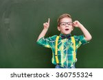 surprised boy stands near empty ... | Shutterstock . vector #360755324